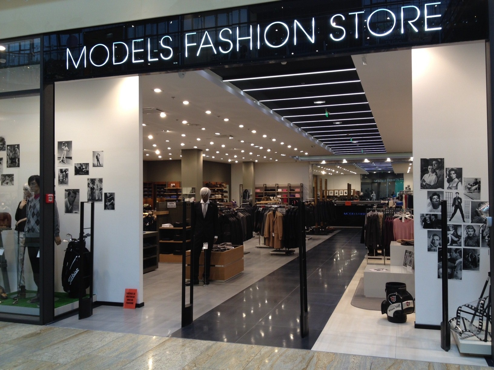Models clothing store